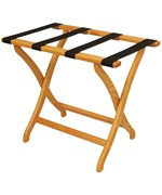 Designer Solid Oak Luggage Rack by Wooden Mallet